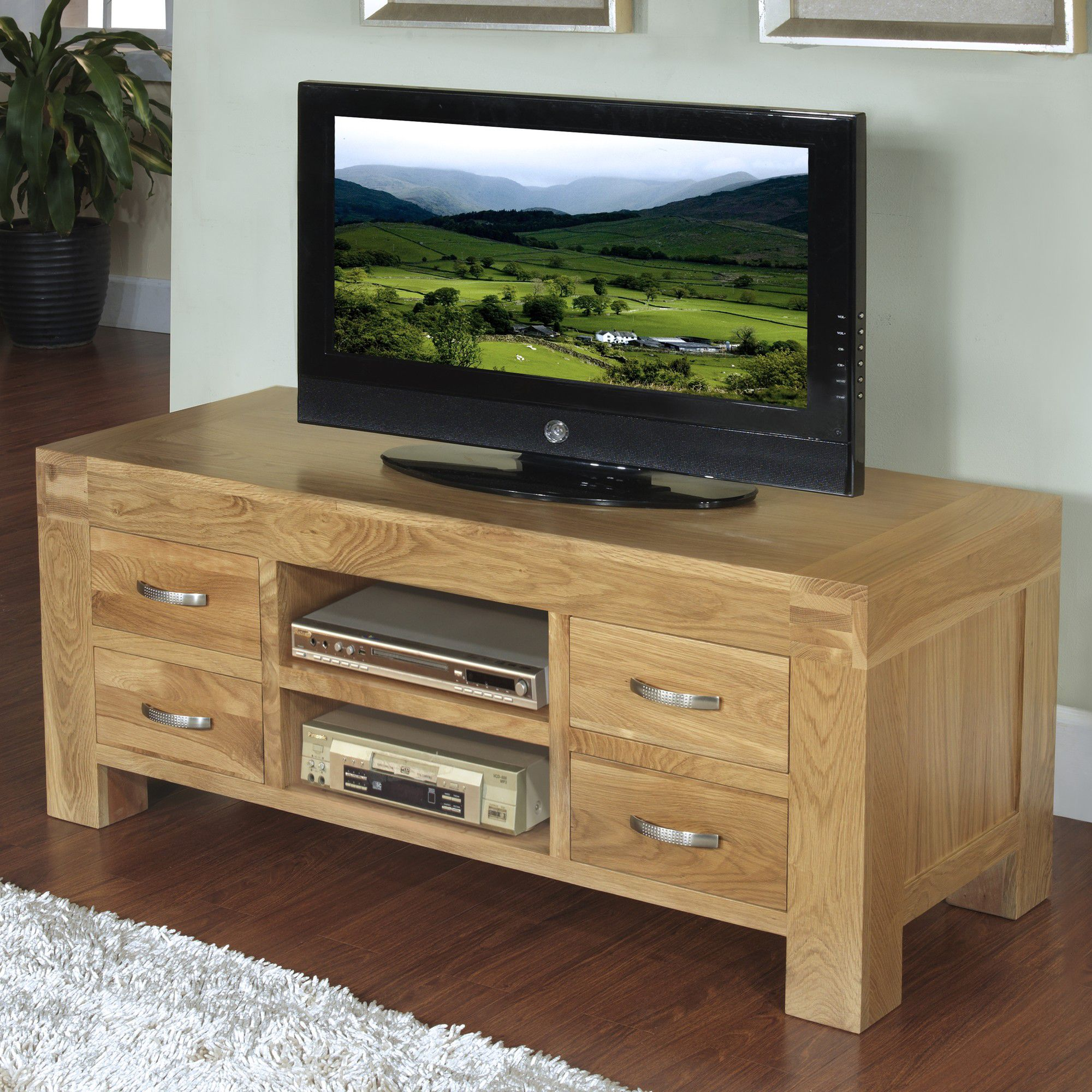 Hawkshead Rustic Oak Blonde TV Cabinet at Tesco Direct