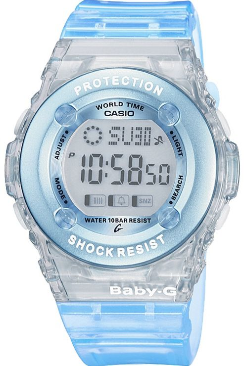 Casio Baby-G Watch with World Time Blue and White