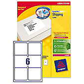 Avery Addressing Labels Laser Jam-free 6 per Sheet 99.1x93.1mm White Ref L7166-250 [1500 Labels]