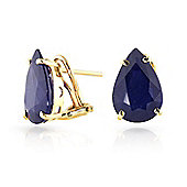 QP Jewellers 9.30ct Sapphire Ovate Stud Earrings in 14K Gold