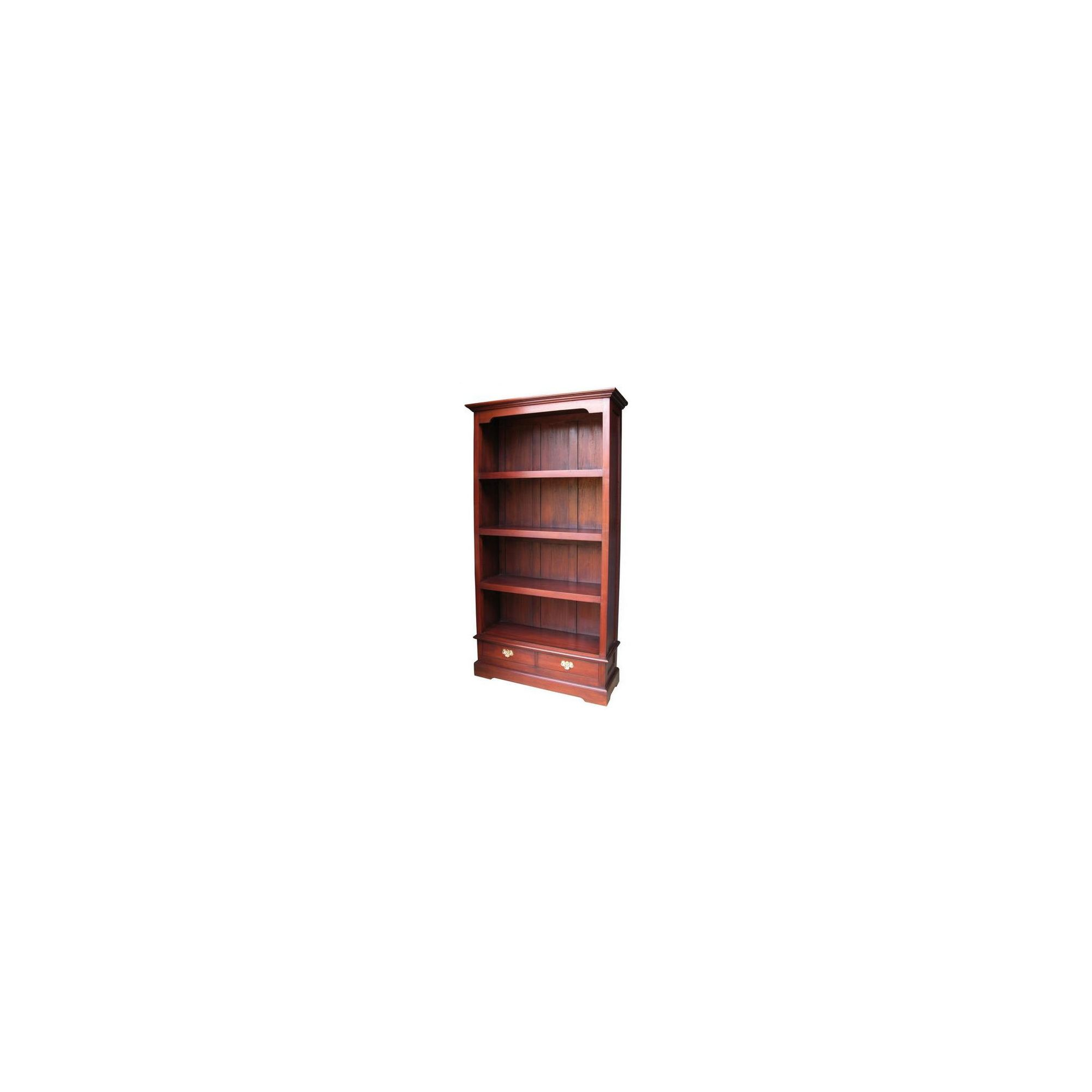 Lock stock and barrel Mahogany Standard 2 Drawer Bookcase in Mahogany at Tescos Direct