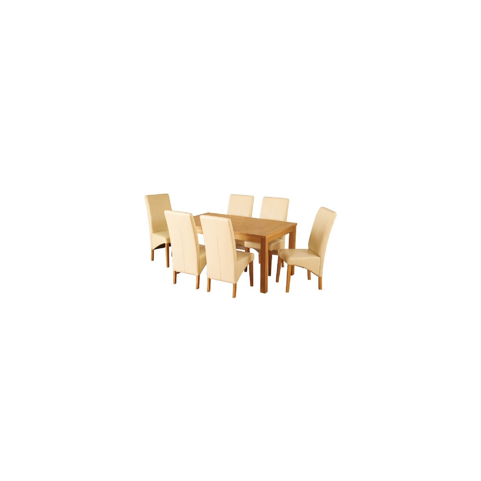 Home Essence Belgravia 7 Piece Dining Set - Cream at Tesco Direct