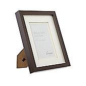 Linea Dark Wood Photo Frame 4 X 6