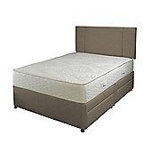 Slumberland 1000 Memory Pocketflex 2 Drawer King Divan Bed, Mocha