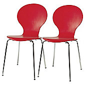 Bistro Chairs Pair Red