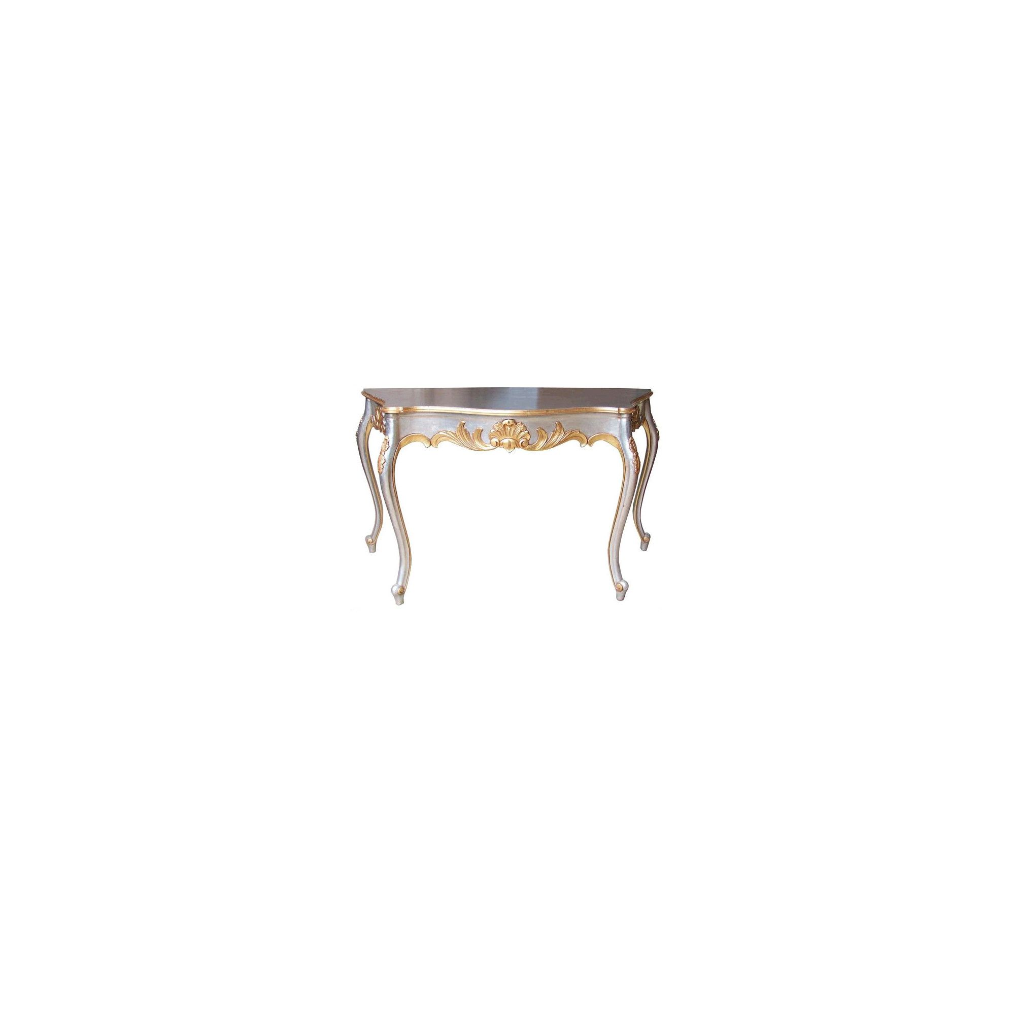 Lock stock and barrel Mahogany Marble Topped Carved Serpentine Table in Mahogany - Silver at Tesco Direct
