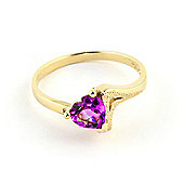 QP Jewellers 0.95ct Pink Topaz Devotion Heart Ring in 14K Gold