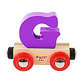 Bigjigs Rail Rail Name Letter G (Purple)