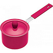 Pink Mini Non-Stick Saucepans with Soft Grip Handle