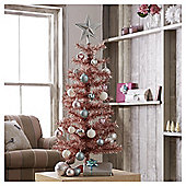 Tesco Pink Christmas Tree, 3ft