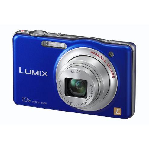 Panasonic DMCSZ1 Digital Camera, Blue, 16.1MP, 4x Optical Zoom, 3.0 inch LCD Screen