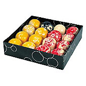 Competition 2'' Marble Red & Yellow Pool Ball Set