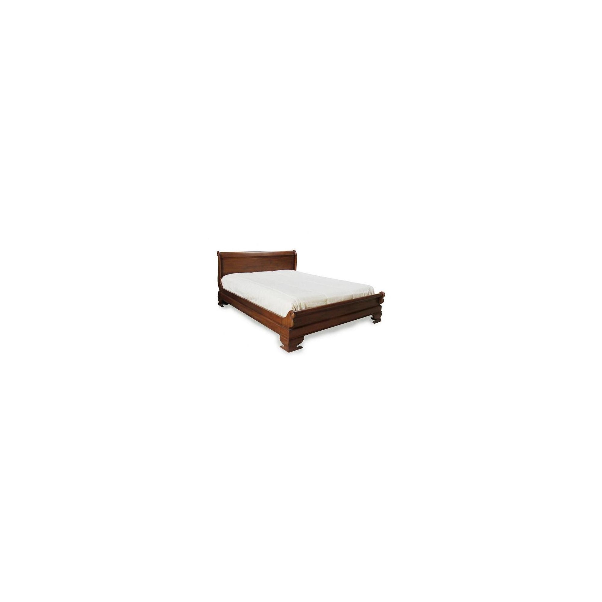 Lock stock and barrel Mahogany Sleigh Bed with Low Footboard in Mahogany - Double - Wax at Tesco Direct