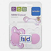Mam 0+ Months Mini Crystal Silsoothers X2