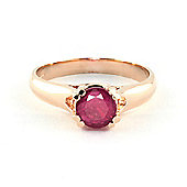 QP Jewellers 1.35ct Ruby Solitaire Ring in 14K Rose Gold