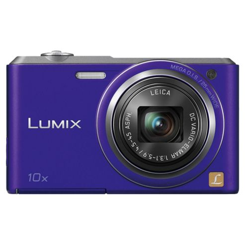 Panasonic Lumix SZ3 Digital Camera, Violet, 16MP, 10x Optical Zoom, 2.7 inch LCD Screen