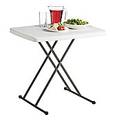 VonHaus 2.5ft (0.77m) Adjustable Height Folding Trestle Table for Picnic/Garden/Beach/Camping (Grey)