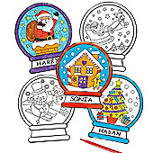 Christmas Colour-in Window Decorations (12 Pcs)