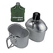 Yellowstone Aluminium Water Canteen & Mess Tin Set