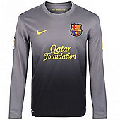 2012-13 Barcelona Nike Goalkeeper Shirt (Black) - Black