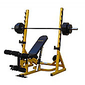 Bodymax CF516 Elite 3 in 1 Bench Rack System With Leg Curl and Preacher