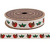 Robin Christmas Gift Ribbon