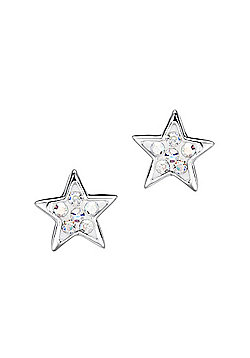 Jo For Girls Sparkly Silver Star Studs Earrings