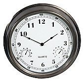 Town and Country Outdoor Weather Station Wall Clock