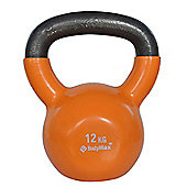 Bodymax 12kg Vinyl Coated Kettlebell (Orange)