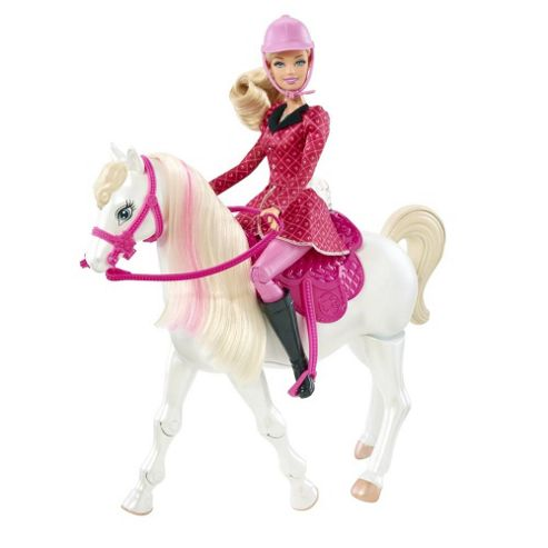 Barbie Train And Ride Feature Horse
