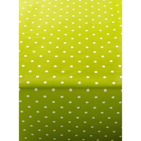 Polka Dot Green 200cm x 135cm Oilcloth Tablecloth