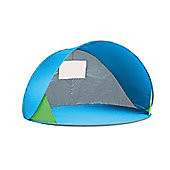 Blue Pop Up Beach Tent with UPF Sun Protection