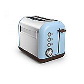 Morphy Richards 222003 2 Slice Toaster, with 850W, 9 Toast Settings, in Azure