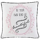 Beautiful Word Cushion 43 x 43cm