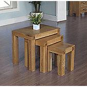 Ametis Santana Blonde Oak Nest of Tables