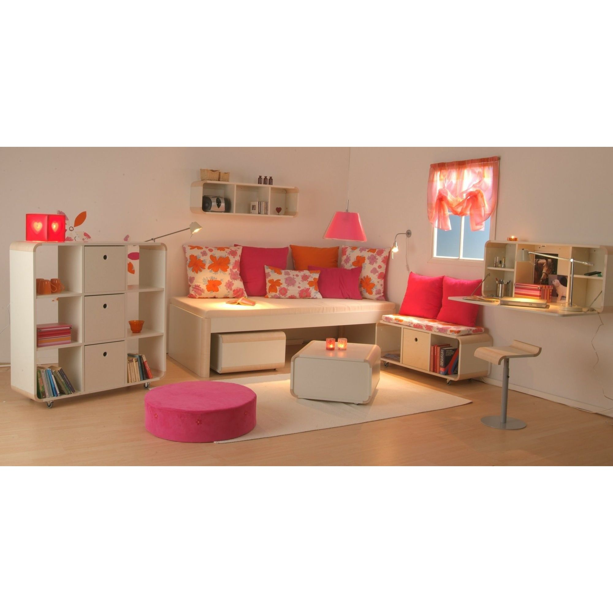 ''Junior living bookcase ''''3'''', white'' at Tesco Direct