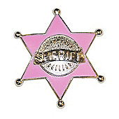 Gun Slinging Gal Sheriff Badge