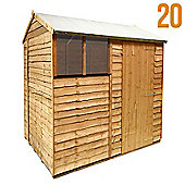 BillyOh 20 8 x 6 Rustic Overlap Reverse Apex Shed