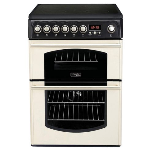 Hotpoint CH60ETCS Cream Colour Electric Cooker with Double Oven