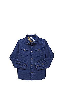 F&F Patch Pocket Shirt - Blue