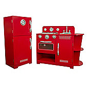 Teamson Kids Red Play Kitchen (2 Piece)