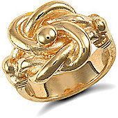 Jewelco London 9ct Solid Gold medium weight Knot Ring