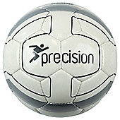 Precision Cordino Match Football FIFA Approved Ball (White / Silver) Size 5