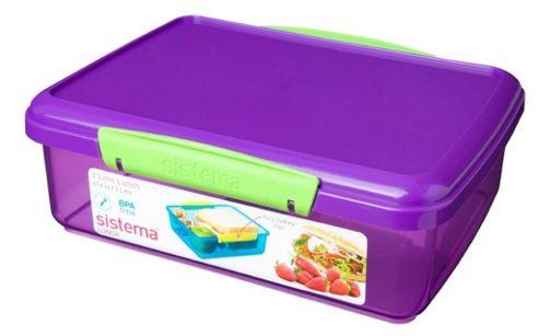 buy sistema klip it 2l sandwich storage box purple from. Black Bedroom Furniture Sets. Home Design Ideas
