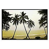 Hainan Island, China Gloss Black Framed Palm Trees Poster