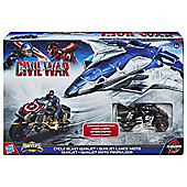 "Marvel Avengers Captain America 2.5"" Cycle Blast Quinjet"