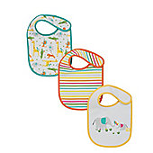 Mothercare Elephant Bibs - 3 Pack