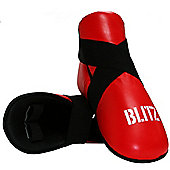 Blitz - Pro Leather Semi Contact Foot Protector - Red