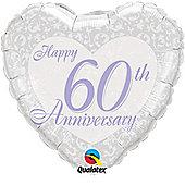 18' Happy 60th Anniversary Heart (each)