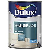 Dulux Feature Wall Matt Emulsion Paint, Teal Tension, 1.25L